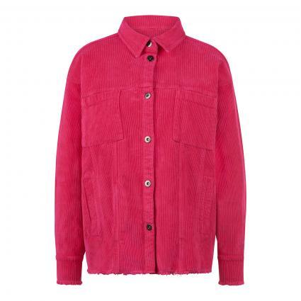 Jacke im Overshirt-Stil aus softem Breitcord pink (410 raspberry) | M