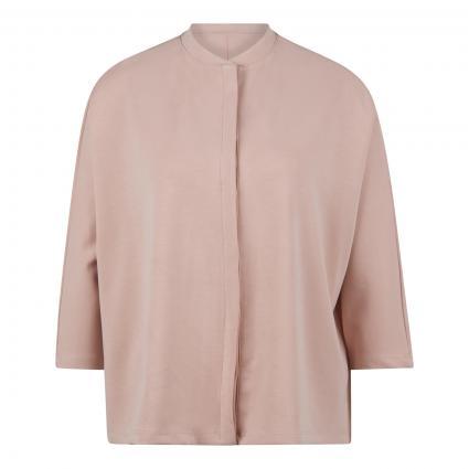 Oversize-Bluse aus Jersey rose (46 rose) | M