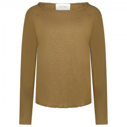 Langarmshirt aus Baumwolle oliv (ASPERGE VINTAGE) | L
