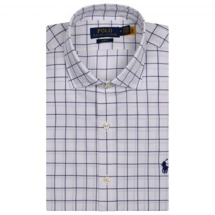 Slim-Fit Hemd mit All-Over Karomuster  blau (002 BLUE/MULTI)   S