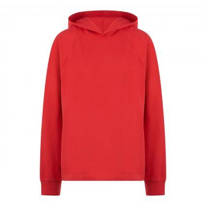 Sweatshirt mit Kapuze rot (558 fire) | XL