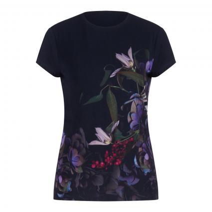 T-Shirt 'Adie' mit Blumen-Print marine (DK BLUE)   36