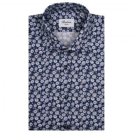 Slim-Fit Hemd mit All-Over Muster  marine (141 marine) | 42