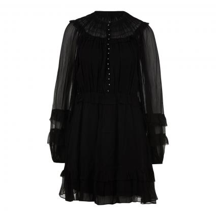 Kleid mit Volant-Details schwarz (BLACK BLA01) | 34