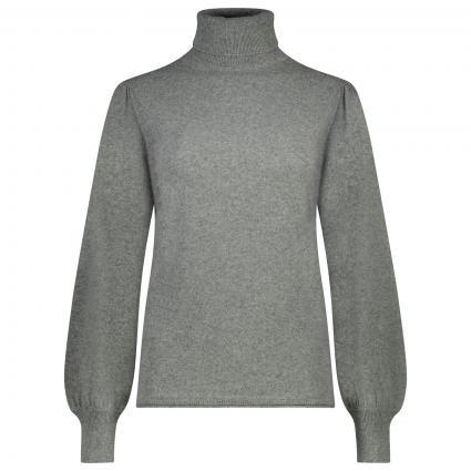 Rollkragen Pullover 'Mona Lisa'  anthrazit (413 dark grey melang) | XL