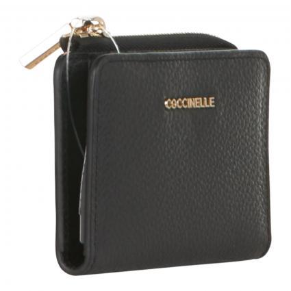 Portemonnaie aus Leder schwarz (001 NOIR) | 0