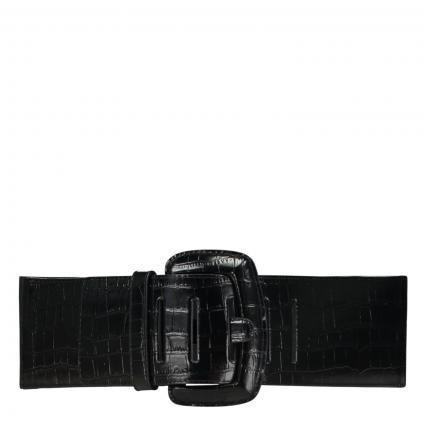 Stretch-Gürtel 'Perenne' schwarz (003) | XS