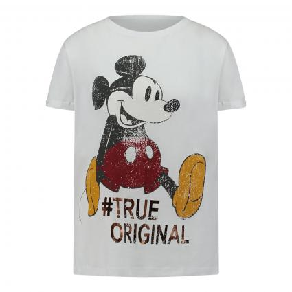 T-Shirt mit Mickey Mouse-Print weiss (1100 weiss) | 38