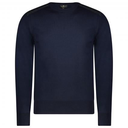 Pullover mit Steppdetails  blau (80104 navy) | S