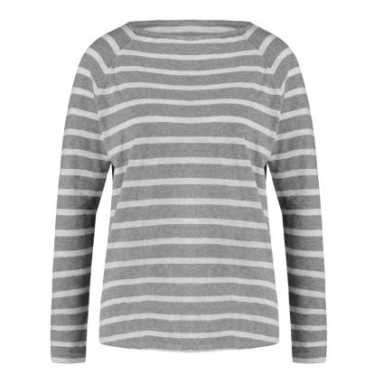 Langarmshirt mit Streifenmuster grau (8591 grau mel.-ecru) | M