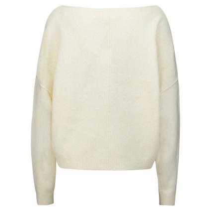 Pullover mit weitem Rundhalsausschnitt  beige (PANNACOTTA) | XS/S