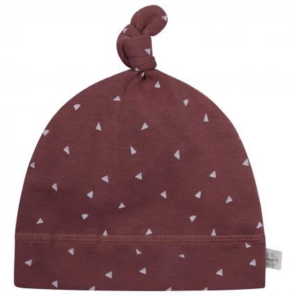 Mütze mit All-Over Muster braun (Triangle cinnamon) | 80