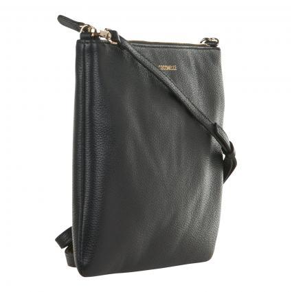 Crossbodybag aus Leder schwarz (001 NOIR) | 0