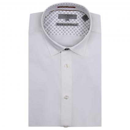 Hemd mit Musterung  weiss (white) | XXL