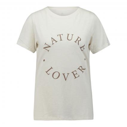 Regular-Fit T-Shirt mit Wording  ecru (120 ecru) | S