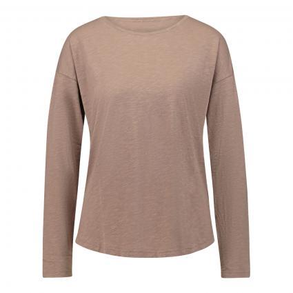 T-Shirt mit Rundhalsausschnitt  beige (278 tabacco) | S