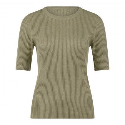 Pullover mit Struckturmuster grün (1385 green tea) | 40