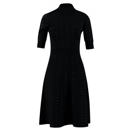 Kleid mit Nietenverzierung schwarz (K103 NERO) | S