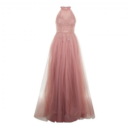 Abendkleid mit Spitzen- und Perlen-Details rose (soft rose)   34