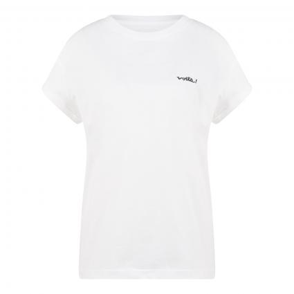 T-Shirt mit Voilà-Stickerei ecru (1950 offwhite voila) | XS