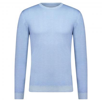 Pullover aus Merinowolle blau (123 Bleu) | XL