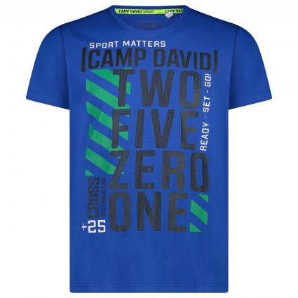 T-Shirt mit Logo-Print blau (BLU 0311) | M