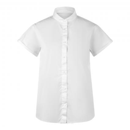 Bluse mit Kurzarm weiss (0 weiß)   38