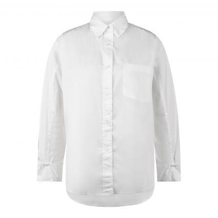 Hemdbluse mit Brusttasche weiss (0 weiß) | 40