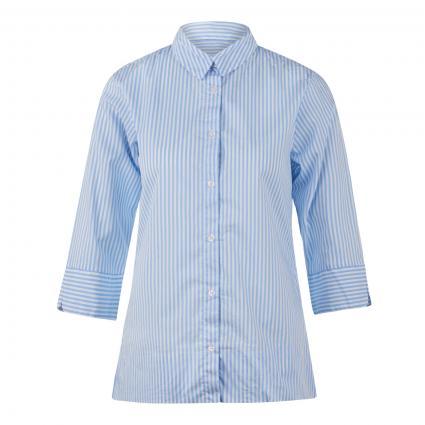 Gestreifte Bluse mit 3/4 Arm blau (005/7043 bleu) | 36