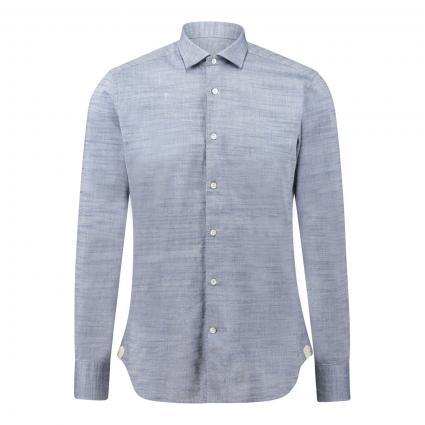 Unifarbenes Hemd  blau (UE1 jeans) | 39