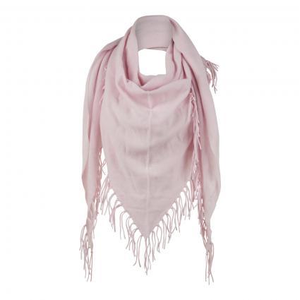 Dreiecks-Schal mit Fransen rose (pearl) | 0