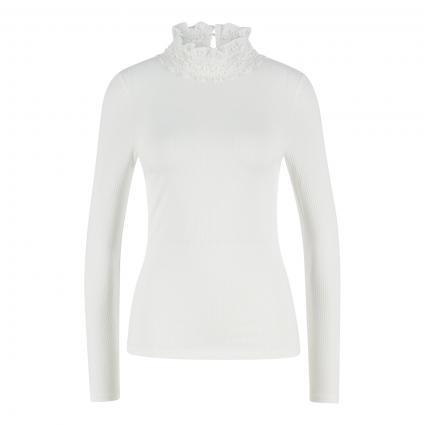 Langarmshirt 'Wilaart' mit Spitzenkragen weiss (WHITE)   38