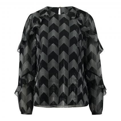 Bluse 'Mowenna' mit Glanzfäden schwarz (BLACK) | 40