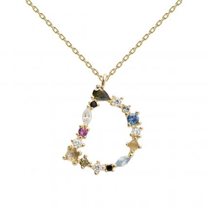 Filigrane Halskette mit Buchstabe 'D' divers (1) | 0