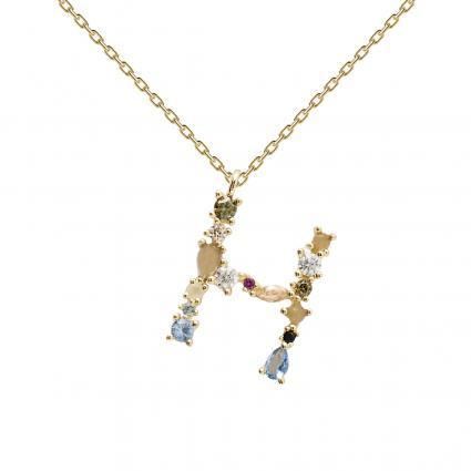 Filigrane Halskette mit Buchstabe 'H' divers (1) | 0