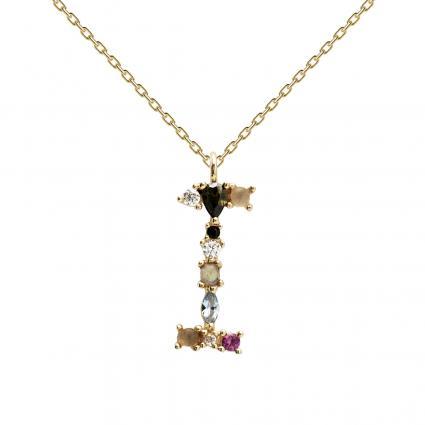 Filigrane Halskette mit Buchstabe 'I' divers (1) | 0