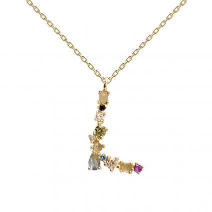 Filigrane Halskette mit Buchstabe 'L' divers (1) | 0