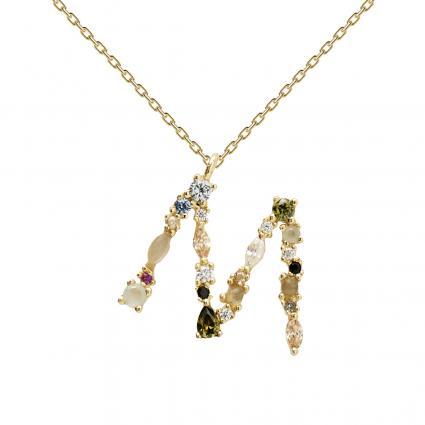 Filigrane Halskette mit Buchstabe 'M' divers (1) | 0