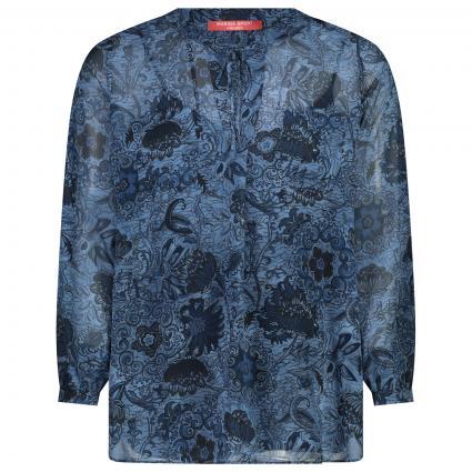 Bluse mit All-Over Muster  blau (079 BATIK BLU) | 50