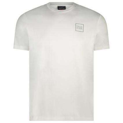 T-Shirt mit Label-Print  weiss (010 White) | XXXL