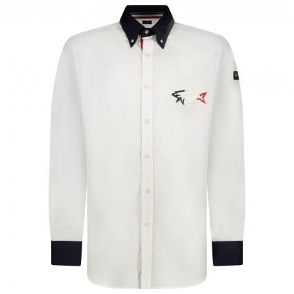 Regular-Fit Hemd mit Label-Stickerei  weiss (010 White)   41