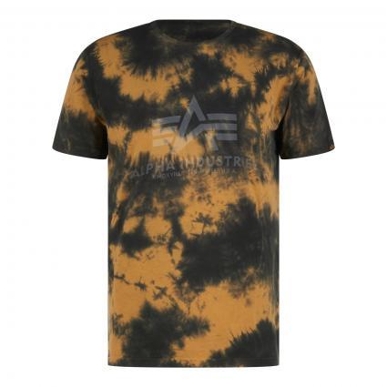 T-Shirt in Batik-Optik beige (20 brown) | XL