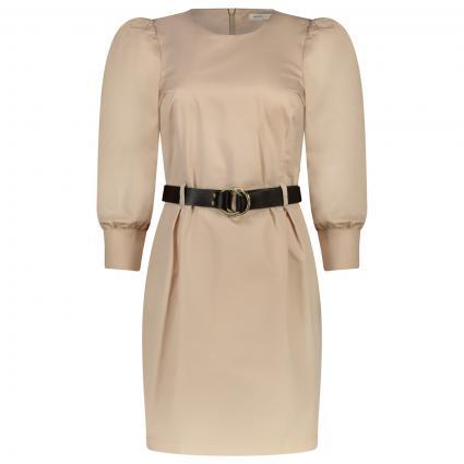 Kleid mit Puffarmen und Gürtel  beige (30401)   S