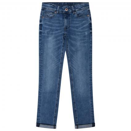 Skinny-Fit Jeans Hose  blau (154 Used Medium Deni) | 176