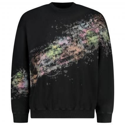 Sweatshirt mit Muster  schwarz (9XXA) | S