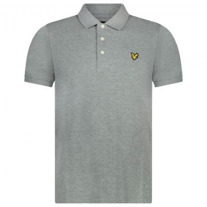 Poloshirt mit Piqué-Optik grau (T28 mid grey marl)   XL
