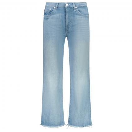 Weite Jeans Hose mit verkürzter Länge   blau (LIGHT BLUE) | 28