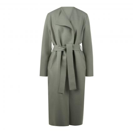 Mantel mit Bindegürtel grün (670 rosemary) | 42