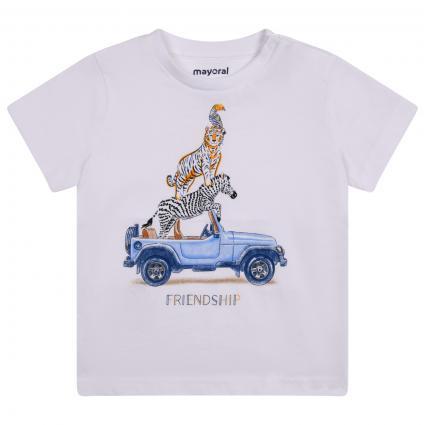 T-Shirt mit frontalem Print  weiss (053 White)   80