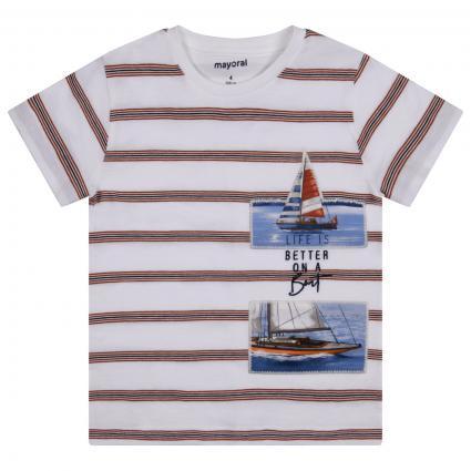 T-Shirt mit Rundhalsausschnitt weiss (073 Clay) | 110